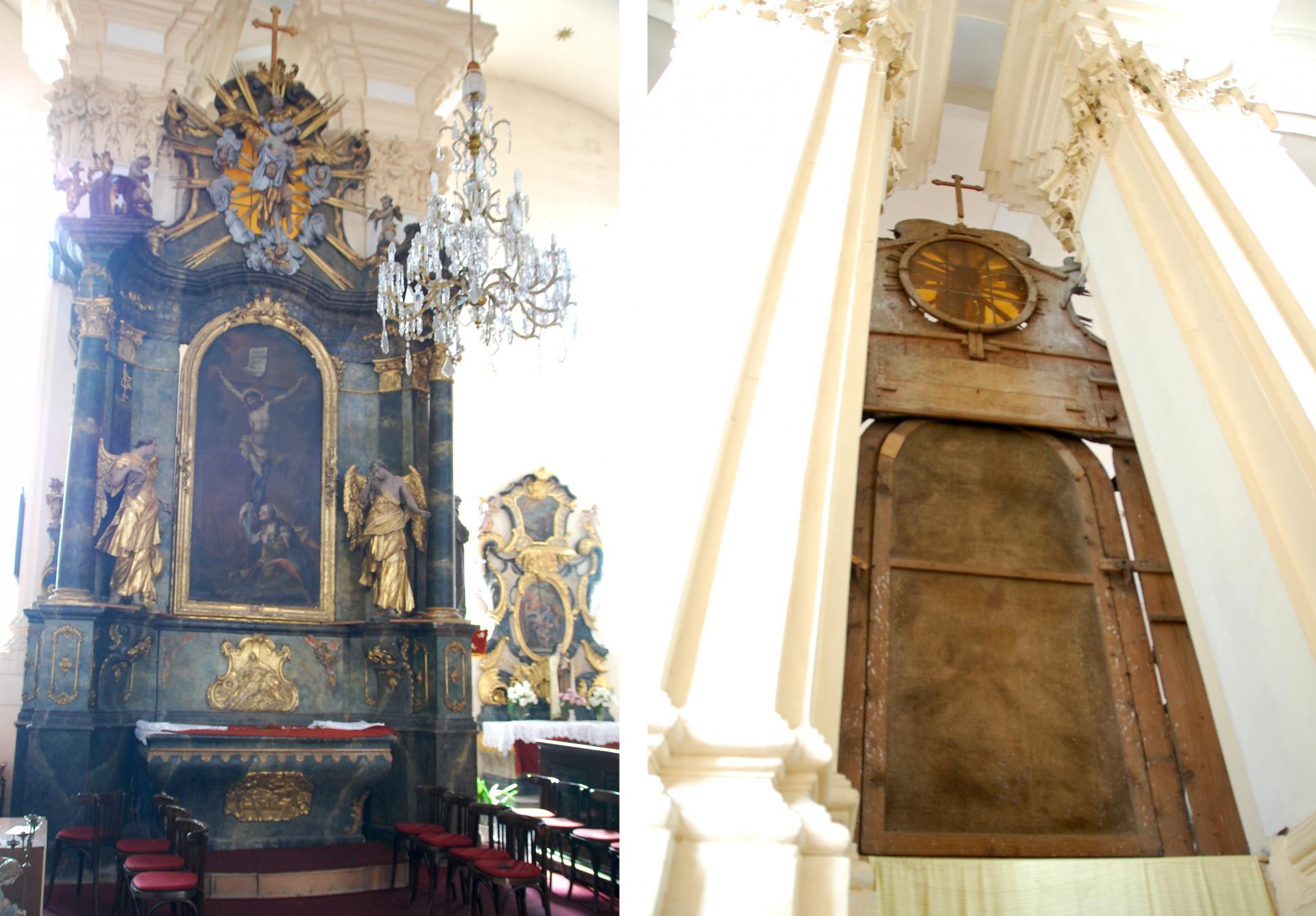 Oltár ukrižovania - pred reštaurovaním