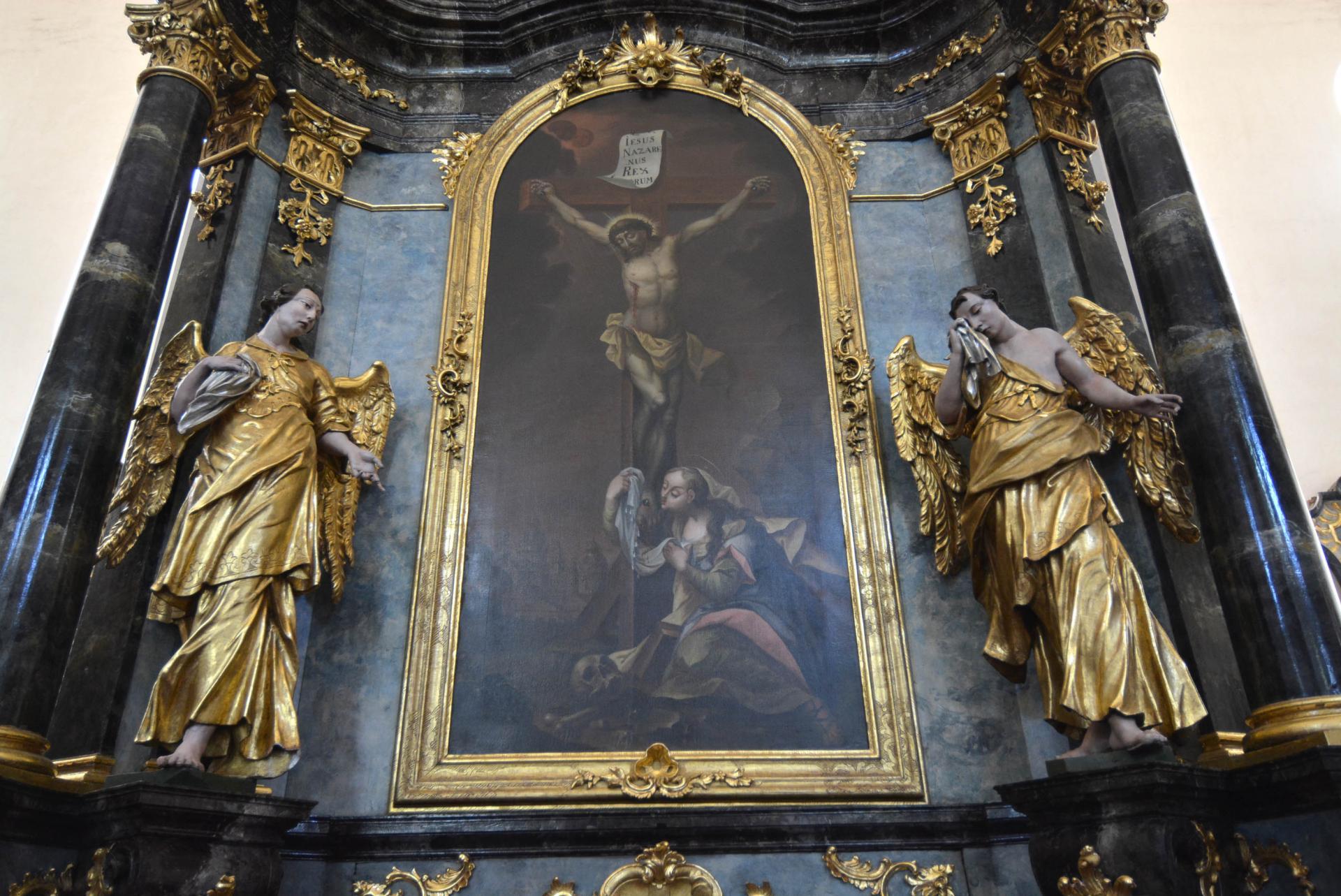 Oltár ukrižovania - stav po reštaurovaní